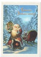 CHRISTMAS POSTCARD FINLAND - SANTA CLAUS - REINDEER  SLEIGH - Artist Signed: PARTANEN - 2013 - Noël