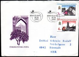CZECHOSLOVAKIA 1989 Historic Bratislava FDC   Michel 3022-23 - FDC