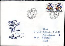 CZECHOSLOVAKIA 1989 Slovak Folk Art Collective FDC   Michel 3012 - FDC