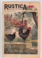 RUSTICA 1950 La Bresse Noire Poule Hen Galinacée Galleon Aviculture Poulytry ( 2 Scans) - Garden