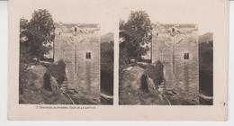 SU 013 / Photos Stéréoscopiques  - ESPAGNE - GRENADE - ALHAMBRA  ,Tour De La Captive - Stereoscopic