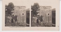 SU 013 / Photos Stéréoscopiques  - ESPAGNE - GRENADE - ALHAMBRA  ,Tour De La Captive - Stereoscopio