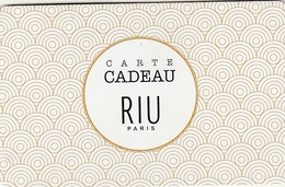 Carte Cadeau   ## RIU  ##    Gift Card, Giftcart, Carta Regalo, Cadeaukaart - Cartes Cadeaux