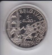 MONEDA DE PRUEBA DE BELGICA DE 5 EUROS DEL AÑO 1996 (NUEVA EN CAPSULA) - Bélgica