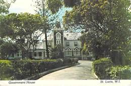 Amérique > Antilles > (Sainte-Lucie) ST LUCIA West Indies Government House ( Timbre Abimé  Stamp Damaged )   *PRIX FIXE - Sainte-Lucie