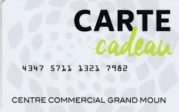 Carte Cadeau   ## Centre Commercial  Grand MOUN  ##    Gift Card, Giftcart, Carta Regalo, Cadeaukaart - Cartes Cadeaux