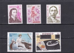 Monaco Nº 1344 Al 1348 - Nuevos
