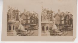 SU 017 / Photos Stéréoscopiques  - ESPAGNE - BARCELONA  , Cimenterio Del E.PANTEONES - Stereoscopio