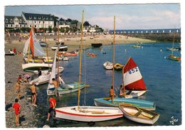 CPSM Locquirec 29 Finistère La Plage Voiliers Ecole De Voile éditeur Jos Le Doaré N°MX 1315 - Locquirec