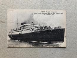TRIESTE VIAGGIO INAUGURALE DELLA GRANDE MOTONAVE SATURNIA DELLA COSULICH LINE 21 SETTEMBRE 1927   1928 - Piroscafi