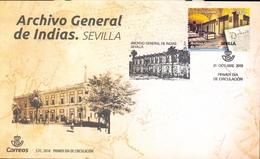 Espagne - 2018 - Timbre Archivo General De Indias Seville En FDC - Exfilna Novembre 2018 - 2011-... Usados