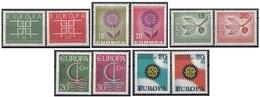 Germania 1963-1964-1965-1966-1967 Europa CEPT - 5 Full Set MNH Germany - [7] Repubblica Federale