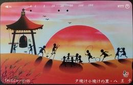 Telefonkarte Japan - Spielende Kinder - 231-107 - Japan