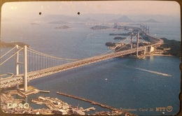 Balken Telefonkarte Japan - Brücke , Brigde - 351-035 - Japan