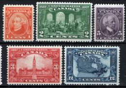 Canada 1927 Y.T.121/25 MNH/** VF/F - Nuovi