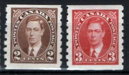 Canada 1937 Y.T.191a/192a MNH/** VF/F - 1937-1952 Regno Di George VI