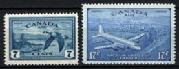 Canada 1946 Posta Aerae Y.T.A11/12 MNH/** VF/F - Posta Aerea