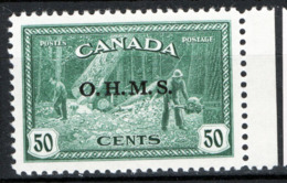 Canada 1950 Servizii Y.T.S6A MNH/** VF/F - Service