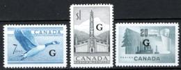Canada 1950 Servizii Y.T.S30/32 MNH/** VF/F - Servizi