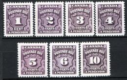 Canada 1935 Segnatasse Y.T.S14/20 MNH/** VF/F - Segnatasse