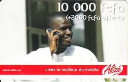 SENEGAL - Man On Phone, Sonatel Prepaid Card 10000+2000 Fcfa, Used - Senegal