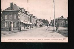 CPA1387.....SAINT NICOLAS D ALIERMONT ..HOTEL DU COMMERCE - France