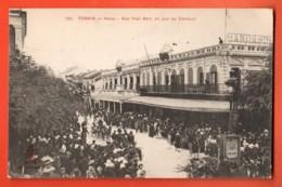 TSD-07 Tonkin, Hanoi, Rue Pascal Bert, Un Jour De Carnaval.  ANIME. Non Circulé - Vietnam