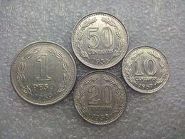 Argentina  1 Peso , 10 -50 Centavos   1957-59 - Argentine