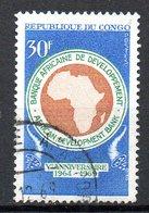 CONGO. N°228 Oblitéré De 1969. Banque Africaine De Développement. - Congo - Brazzaville