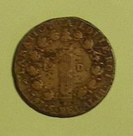 (Monnaies). France Monnaie Revolutionnaire. Louis XVI. 12 D.  1793 Atelier D. Bronze De Canon - 1789-1795 Monnaies Constitutionnelles