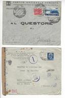 ITALIA + ERITREA 2 LETTRES CENSURE CENSOR /FREE SHIP. R - Machine Stamps (ATM)