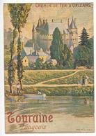 Chemin De Fer D' Orleans - 995 - TOURAINE - LANGEAIS.(Vieilles Affiches Du Temps Passé) - Langeais