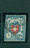 Schweiz Rayon,  Nr. 9 Gestempelt, Links Leicht Berührt - 1843-1852 Kantonalmarken Und Bundesmarken