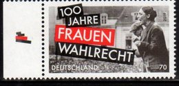 GERMANY, 2019, MNH, 100th ANNIVERSARY OF WOMEN'S RIGHT TO VOTE,1v - History