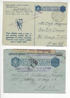 ITALIA 2 LETTRES CENSURE CENSOR WW2 FRANCHISE MILITAIRE /FREE SHIP. R - Machine Stamps (ATM)
