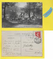 CPA VEREUX 70 ֎ Déchargement D'un Bateau Au Moulin De La FORGE ֎ 1909 Attelage Boeufs & Chevaux - France