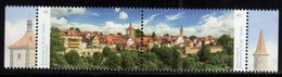 GERMANY, 2019, MNH, BEAUTIFUL GERMANY, ROTHENBURG OB DER TAUBER, ARCHITECTURE, VIEWS,2v - Geography