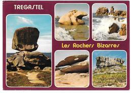 22 - TREGASTEL - Les Rochers Bizarres - Multivues - Ed. Jack - Trégastel