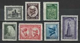 Rumänien Mi 286-92 * MH - 1918-1948 Ferdinand, Carol II. & Mihai I.
