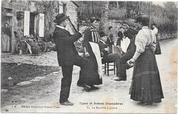 AUVERGNE - Types Et Scènes Champêtres -  Bourrée à Quatre  -  - BES3 - - Auvergne