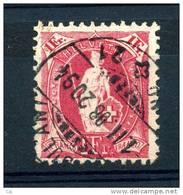 Suisse  :  Yv  98  (o)      Papier Blanc ,  Dentelé 11 1/2x12    ,   N2 - 1882-1906 Armoiries, Helvetia Debout & UPU