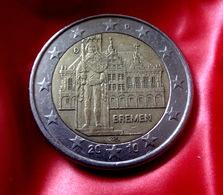 GERMANY - D - 2010 Deutschland 2 Euro Bremen Statue Roland  CIRCULATED COIN - Allemagne
