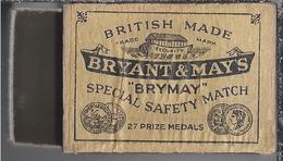 """Luciferdoosje.- Bryant & May's. """"Brymay"""" British Made. - Luciferdozen"""