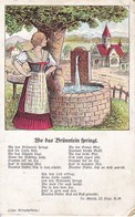 AK Wo Das Brünnlein Springt - Liedtext - Liller Kriegszeitung - Feldpost Leichte Munitions-Kolonne 714 - 1917  (40571) - Musik Und Musikanten