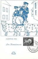 3.12.1954  -  Caritas Timbre 1954  Den Hämmelsmarsch( Luxembg ) - Cartes Maximum