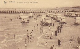 CPA Ostende - La Plage Et Les Bains Vers L'estacade (40572) - Oostende