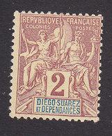 Diego-Suarez, Scott #26, Mint No Gum, Navigation And Commerce, Issued 1892 - Diego-suarez (1890-1898)