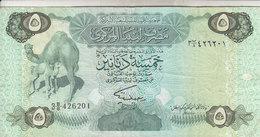 LIBYA 5 DINARS 1984 P-50 SIG/2 MISLLATI VF  */* - Libië