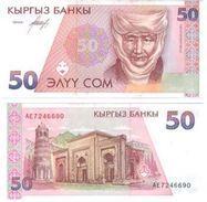10 Pieces Kyrgyzstan - 50 Som 1994 UNC - Kyrgyzstan
