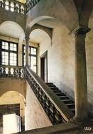 34 Pezenas Hotel Malibran Vue Intérieure Avec Escalier (2 Scans) - Pezenas